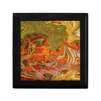Orange and green marbled patterns jewelry box