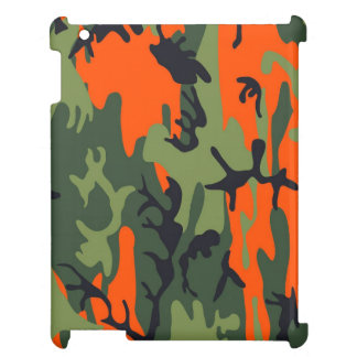 Orange and Green Military Camouflage Textures Case For The iPad 2 3 4