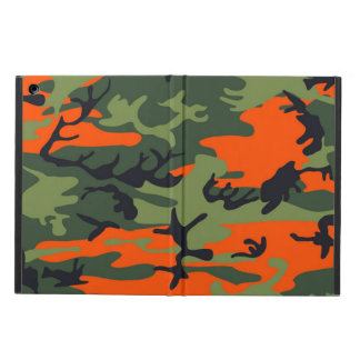Orange and Green Military Camouflage Textures iPad Air Cover
