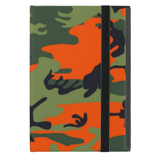 Orange and Green Military Camouflage Textures iPad Mini Case