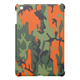 Orange and Green Military Camouflage Textures iPad Mini Cases