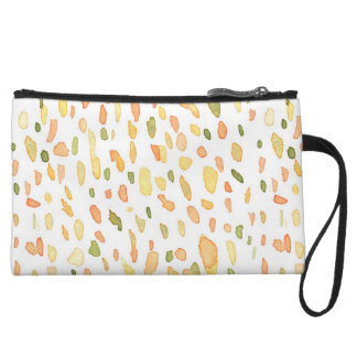 Orange and Green Painted Wristlet Clutch