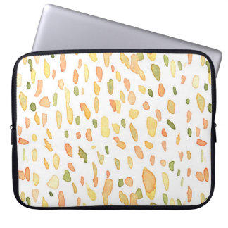 Orange and Green Painted Laptop Computer Sleeve