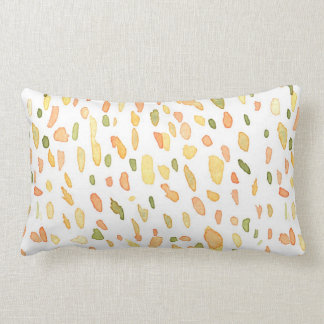 Orange and Green Painted Pillows