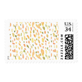 Orange and Green Painted Postage Stamps
