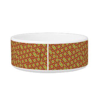 Orange and Green Pattern (cat) Bowl