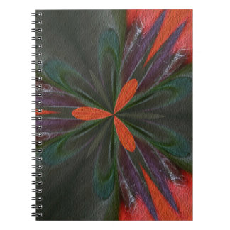 Orange And Green Shapes Abstract Art Notebook