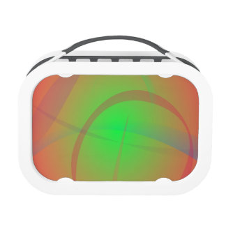 Orange and Green Soft Contrast Lunch Box