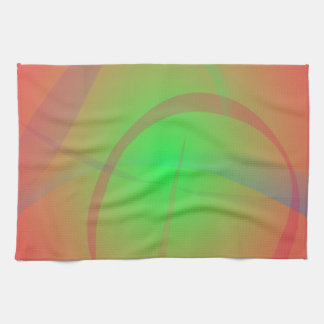 Orange and Green Soft Contrast Towel