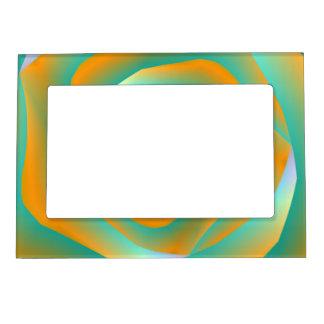 Orange and Green Spiral Rose 5x7 Magnetic Frame