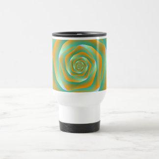Orange and Green Spiral Rose Mug