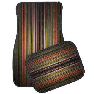 Orange and green stripes pattern car mats