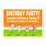 """Orange and Green Tumbling Gym Party Invitations 5"""" X 7"""" Invitation Card"""