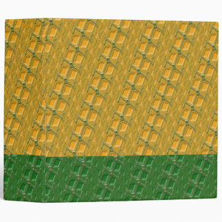 Orange and Green Zipper Binder