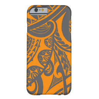 Orange and grey tribal tattoo art drawing barely there iPhone 6 case