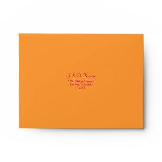 Orange and Hot Pink A-2 Envelope envelope