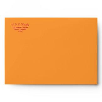 Orange and Hot Pink A-7 Envelope envelope