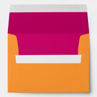 Orange and Hot Pink A-7 Envelope