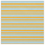 [ Thumbnail: Orange and Light Blue Colored Lines Fabric ]