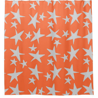 Light Gray Shower Curtains Zazzle - Gray and orange shower curtain