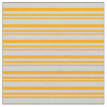 [ Thumbnail: Orange and Light Gray Stripes Pattern Fabric ]