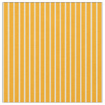 [ Thumbnail: Orange and Light Yellow Stripes/Lines Pattern Fabric ]