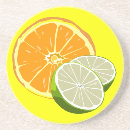 Orange and Limes coaster