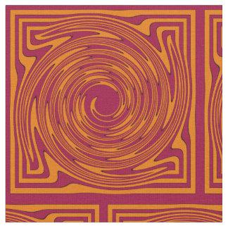 Orange and Maroon #1 Fabric