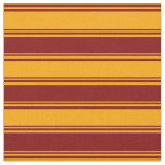 [ Thumbnail: Orange and Maroon Colored Striped Pattern Fabric ]
