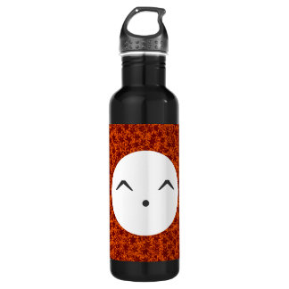 Orange and Maroon Star Team Spirit Sports Colors 24oz Water Bottle