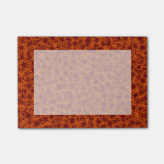 Orange and Maroon Star Team Spirit Sports Colors Post-It Notes