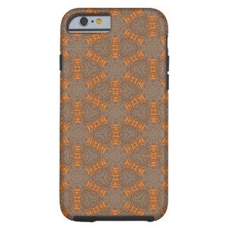 Orange and Mocha Brown iPhone 6 Case