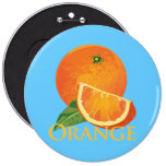 Orange and Orange Slice Button