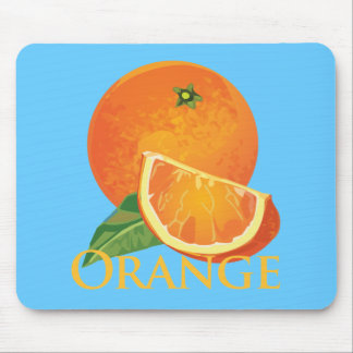Orange and Orange Slice Mouse Pad