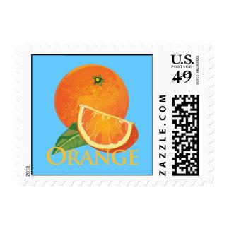 Orange and Orange Slice Postage