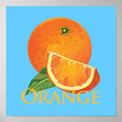 Orange and Orange Slice Posters