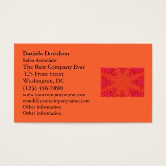 Orange and Pink Abstract Sun Mandala Business Card