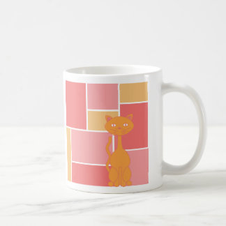 Orange and Pink and Cats Mugs