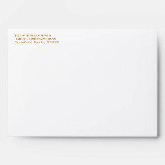 Orange and Pink Floral Envelopes