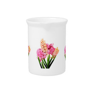 Orange and Pink Hyacinths Pitcher