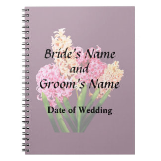 Orange and Pink Hyacinths Wedding Products Notebook