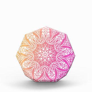 Orange and pink mandala award