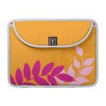 Orange and Pink Mod Vines MacBook Pro Sleeves