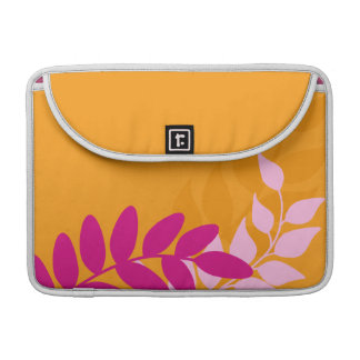 Orange and Pink Mod Vines Sleeve For MacBook Pro