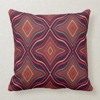 Orange And Pink on Blue Background Or Any Color Throw Pillows