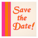 Orange and Pink Save the Date Cards Invitation