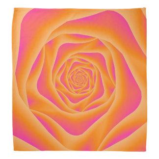 Orange and Pink Spiral Rose Bandana