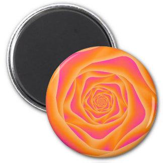 Orange and Pink Spiral Rose Magnet