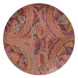 Orange and Pink Textile Plate