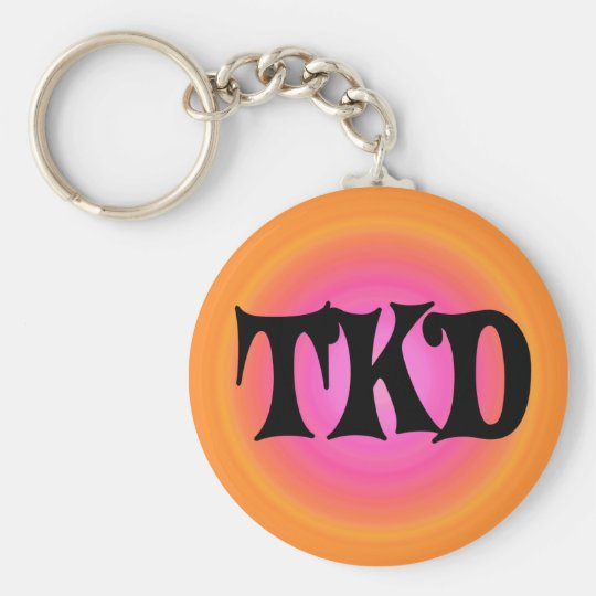 Orange and Pink TKD Keychain